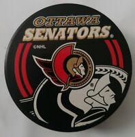 OTTAWA SENATORS NHL INGLASCO SHADOW LOGO OFFICIAL HOCKEY PUCK MADEin SLOVAKIA
