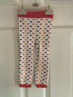 Baby Girl Cotten Knitted Leggings Heart Print Brand New Without Tags 18-24month