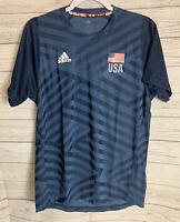 $40 Adidas USA Volleyball Replica Jersey Shirt Men's Medium USA Flag Blue DP4325