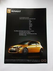 Renault Megane Renaultsport 230 F1 Team R26 Advert from 2007 - Original Ad