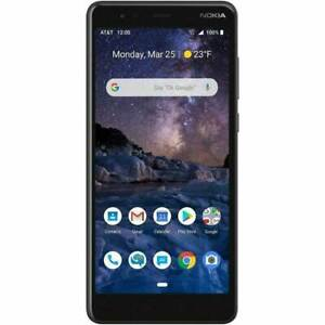 "Nokia 3.1 A 32GB TA-1140 Unlocked 5.45"" 8MP Camera Android One Smartphone Black"