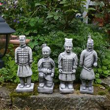 Set St. 4 Chinesische Terrakotta Krieger Soldat Zen Tempelkrieger Qin Steinguss