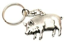 Cow Keyring in Copyrighted Antiqued Pewter Presents, Farming Cattle Gifts