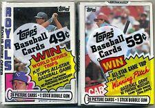 A NICE PACK LOT! 1985 & 1984 CELLO PACKS!! MATTINGL, CLEMENS, PUCKETT ROOKIES!!