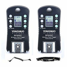 Yongnuo RF-605C Wireless Radio LCD Flash Trigger set for Canon Camera UK