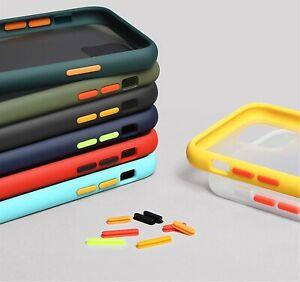Mint Simple Matte Bumper Phone Case For iPhone 7 8 Plus 11 12 Pro Max XS Max XR