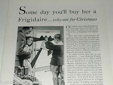 1929 FRIGIDAIRE refrigerator advertisement, electric icebox, kids in kitchen