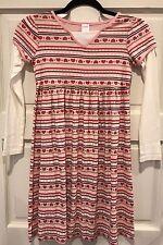 Gymboree Girls Size 10 Fair Isle Gingerbread Heat Stripe Pink Dress New