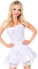 Daisy Corsets LAVISH WHITE / SILVER LACE Corset Dress Bustier Costume Sexy 2X