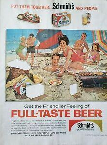 Lot of 3 Vintage 1962 Schmidt's Beer Ad  Get the Friendlier Feeling