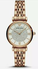 Emporio Armani AR11244 Ladies Diamond Accent Dial Glitz Rose Gold Watch RRP £399