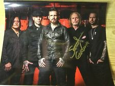 Black Star Riders Photograph 8 x 10 Signed Scott Gorham Ricky Warwick Thin Lizzy