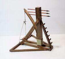 Walnut Operating Medieval Springald (Springal) Catapult Model HandMade NEW