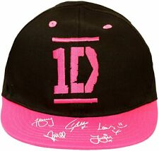 10 x  One Direction 1D Pink Black Baseball Cap Hat One Size Wholesale