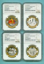 CANADA 2013 NGC PF-69/70 O CANADA 12 COIN SET NGC GILDED MINTAGE 637 PCKG INC