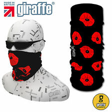 Poppy Black Multifunctional Headwear remembrance military army poppy day