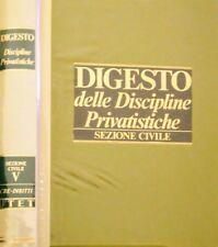 DIGESTO DELLE DISCIPLINE PRIVATISTICHE SEZIONE CIVILE V 5 UTET 1989 NUOVO