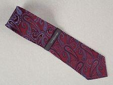 New, Croft & Barrow, Burgundy Paisley, Silk Necktie Neck Tie 58 L & 3 3/4 W, D1c