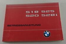 Betriebsanleitung / Handbuch BMW 5er E12 518 / 520 / 525 / 528i von 08/1979