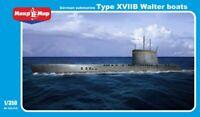 MikroMir 350-018 Submarine U-boat type XVIIB Walter boats 1/350 Scale Model Kit