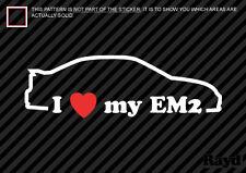 I Love my EM2 Sticker Decal Die Cut Vinyl #2