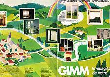 PUBLICITE  1970   GIMM   fentres portes ( 2 pages)