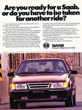 1989 Saab 9000 Turbos - Ready - Classic Vintage Advertisement Ad D97