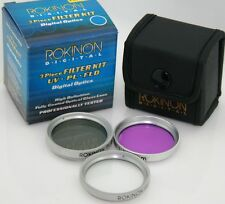 Rokinon 30mm UV PL & FLD Filter Kit with Case
