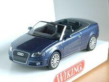 Wiking audi a4 cabrio, azul-met. - 0132 02 - 1/87
