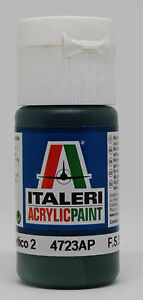 Acrylic Paint Flat Verde Mimetico 2 #ITP-4723AP Italeri Model Acrylic Paint 20ml