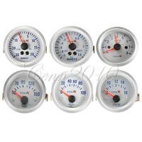 "Car 2"" 52mm Oil/Water Pressure/Temperature Volt Boost Gauge Tachometer Meter New"