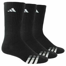 3 Pair Adidas Men's Cushioned Crew Socks Shoe Size 6-12 Various color