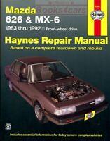 MAZDA SHOP MANUAL SERVICE REPAIR 626 MX6 HAYNES BOOK CHILTON