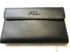 Ralph Lauren Mens Collection Lg. Foldover Wallet w/ Removable Zip Pouch $395 New