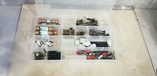 Lot Electronic Components Parts lot Fuse holders, Capacitors etc... With Case
