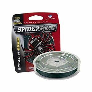 SPIDERWIRE STEALTH  Moss Green Braided Fishing Line -  CHOOSE  LB and YDS