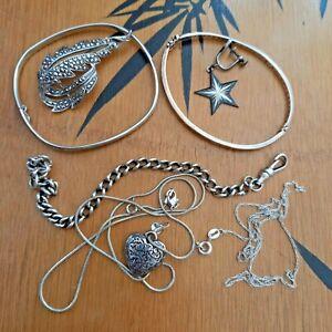 Sterling Silver 925 Broken Jewellery Supplies Job Lot Repair Craft Repurpose 43g