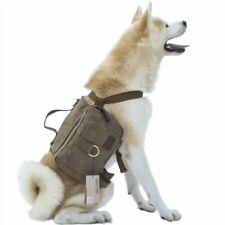 Tactical Training Dog Vest Harness Nylon Molle Service Adjustable Military Bag L