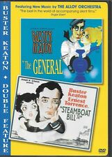 Buster Keaton Double Feature The General/Steamboat Bill Jr. (Dvd) Image Release!