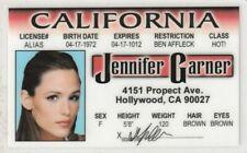 Jennifer Garner of Marvel Comcs Electra / Daredevil girlfriend Drivers License