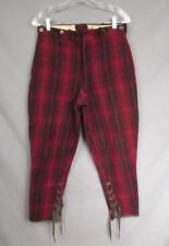Vintage 1950s Woolrich Wool Buffalo Plaid Hunting Pants Jodphur Breeches 30 Nice