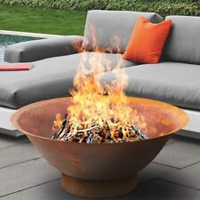 FIRE PIT - RUST LARGE CAST Thick BOWL Outdoor Patio Fireplace Garden Camping