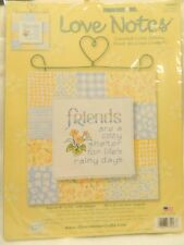 "NIP Dimensions Love Notes Counted Cross Stitch Kit "" Cozy Shelter "" 8X10"""