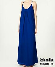 womens boho blue maxi dress size 12 au new