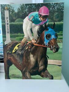 """EMPIRE MAKER"" Thoroughbred Horse - 2003 BELMONT WINNER - ROBERT CLARK  Giclee"
