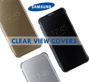 Genuine Official Samsung Galaxy S7 S8 S10e Note10 5G Clear View Covers Flip Case