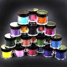24 Color Jumbo Metal Shiny Fine Glitter Nail Art Kit Acrylic UV Powder Tips Kit