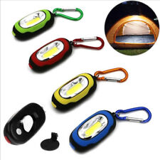 Portable COB LED Flashlight Waterproof Keychain Torch Light Camping Lamp 3Modes