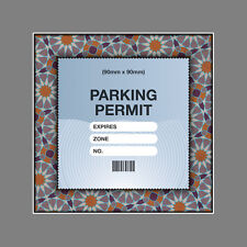 PARKING PERMIT Holder ISLAMIC PATTERN FRAME self-cling window decor – Freepost