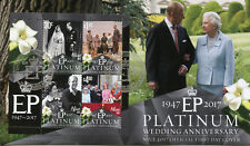 Niue 2017 FDC Queen Elizabeth II Platinum Wedding 4v M/S Cover Royalty Stamps